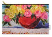 Yellow  And Pink Carry-all Pouch