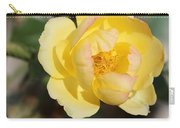Yellow And Pink Tipped Rose Carry-all Pouch