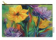 Yellow And Purple Flowers Carry-all Pouch