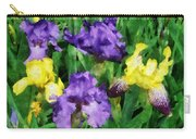 Yellow And Purple Irises Carry-all Pouch