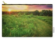 Retzer Nature Center - Yellow And Purple Summer Sunset  Carry-all Pouch
