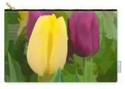 Yellow And Purple Tuilps Carry-all Pouch