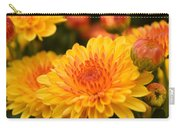 Yellow And Red Autumn Mums Closeup I Carry-all Pouch