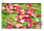 Yellow And Red Fall Maple Leaves Carry-all Pouch