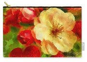 Yellow And Red Floral Delight Carry-all Pouch