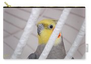 Yellow And Red On White Carry-all Pouch