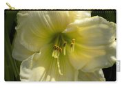 Yellow And White Daylily Carry-all Pouch