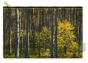 Yellow Autumn Trees In Forest Carry-all Pouch
