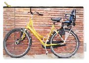 Yellow Bicycle Digital Watercolour Carry-all Pouch