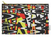 Yellow Black Red White Drawing Abstract Carry-all Pouch