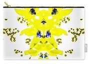 Yellow Blue Blossoms Carry-all Pouch
