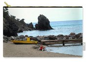 Yellow Boat On The Beach Carry-all Pouch
