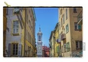 Yellow Buildings And Chapel In Old Town Nice, France - Landscape Carry-all Pouch