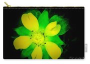 Yellow Buttercup On Black Background Carry-all Pouch