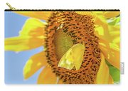 Yellow Butterfly And Sunflower Carry-all Pouch