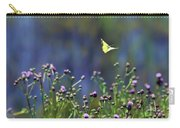 Yellow Butterfly Flyaway Carry-all Pouch