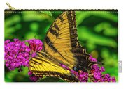 Yellow Butterfly In The Garden Carry-all Pouch
