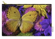 Yellow Butterfly On Bouquet Carry-all Pouch