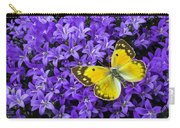 Yellow Butterfly On Mee Carry-all Pouch