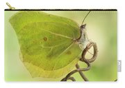 Yellow Butterfly On The Branch Carry-all Pouch