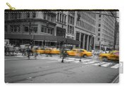Yellow Cab On Fifth Avenue, New York 4 Carry-all Pouch
