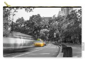 Yellow Cabs In Central Park, New York 3 Carry-all Pouch