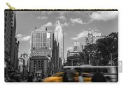 Yellow Cabs In Midtown Manhattan, New York Carry-all Pouch