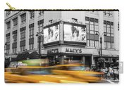 Yellow Cabs Near Macy's Department Store, New York Carry-all Pouch