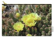 Yellow Cactus Blooms Carry-all Pouch