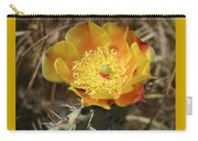 Yellow Cactus Flower On Display Carry-all Pouch