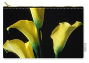 Yellow Calla Lilies  Carry-all Pouch by Garry Gay