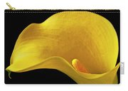 Yellow Calla Lily In Black And White Vase Carry-all Pouch