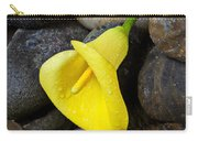 Yellow Calla Lily On Rocks Carry-all Pouch
