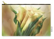 Yellow Callas In Calla Vase Carry-all Pouch