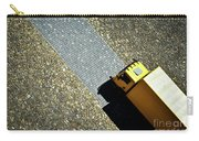 Yellow Car On The Stone Pavement Carry-all Pouch