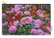 Yellow Caterpillar On Purple Mums Carry-all Pouch