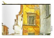 Yellow Clock Tower Carry-all Pouch
