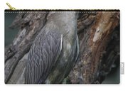 Yellow Crested Night Heron On Log Carry-all Pouch