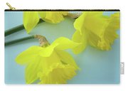 Yellow Daffodils Artwork Spring Flowers Art Prints Nature Floral Art Carry-all Pouch