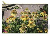 Yellow Echinacea, Straw Flowers Gray Stone Background 2 9132017  Carry-all Pouch