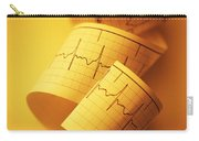 Yellow Ekg Carry-all Pouch