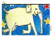 Yellow Elephant Facing Right Carry-all Pouch