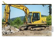 Yellow Excavator In Anacortes Carry-all Pouch