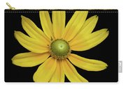 Yellow Eyed Daisy In Black Carry-all Pouch