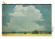 Yellow Field On Old Grunge Paper Carry-all Pouch by Setsiri Silapasuwanchai