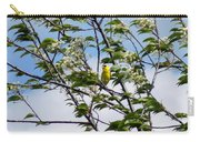 Yellow Finch And Flowers Carry-all Pouch