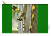 Yellow Finch Feeding Frenzy Carry-all Pouch