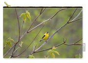 Yellow Finch In Spring Carry-all Pouch