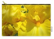 Yellow Floral Irises Flowers Art Prints Baslee Troutman Carry-all Pouch