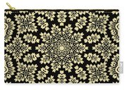 Yellow Floral Ornament Design Carry-all Pouch